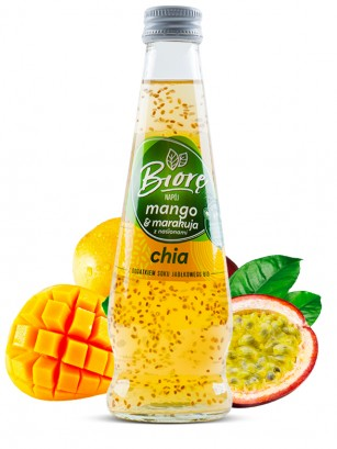 Bebida Sabor Mango y Maracuyá con Chia | 225 ml.