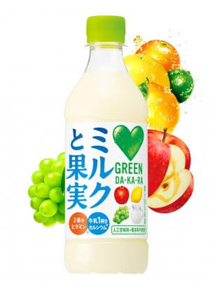 Bebida DAKARA de Leche y Zumo de 3 Frutas | 430 ml.