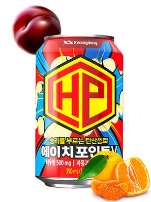 Bebida Coreana Energética Mindpoint Naranja y Ciruela 350 ml.