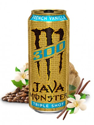 Bebida Energética Monster Café Java Vainilla Triple Shot | USA 443 ml.
