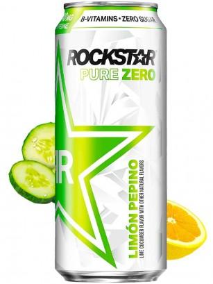 Bebida Energética Rockstar Pure Zero | Limón & Pepino | 473 ml.