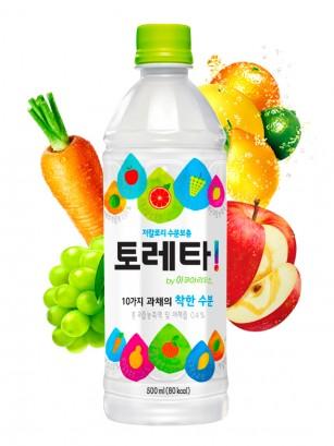 Bebida Coreana Isotónica con Frutas y Verduras | Toreta 500 ml.