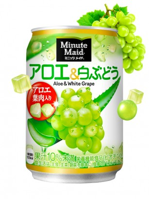 Bebida Japonesa de Uva Blanca y Aloe Vera | Minute Maid 280 ml. | OFERTA!!