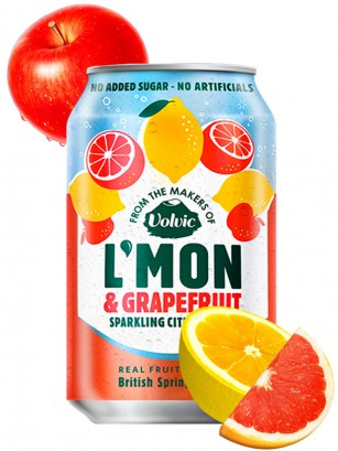 Refresco Natural de Limón, Pomelo y Manzana | 330 ml.