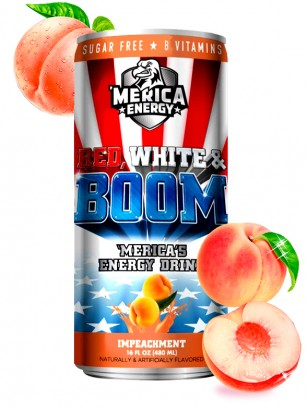 Bebida Red, White & Boom Energética | Impeachment | Sabor Melocotón 480 ml