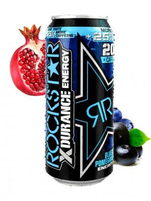 Bebida Energética Rockstar de Arándanos, Granada y Acaí | XDurance 500 ml