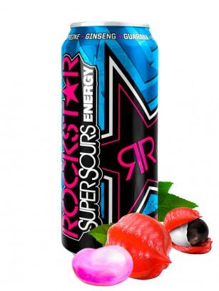 Bebida Energética Rockstar Sabor Chicle Ácido de Guarana 500 ml