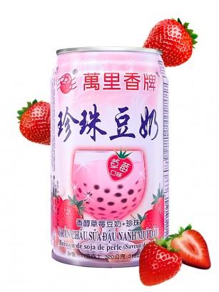 Bebida de Soja sabor Fresa con Perlas de Tapioca 315 ml.
