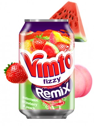Soda Vimto Fizzy Remix Summer Fruits 330 ml.