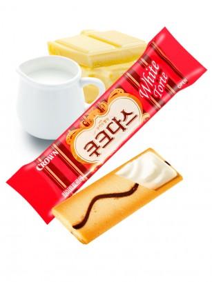 Biscuit Coreano relleno de Crema de Chocolate Blanco y Leche | Pocket Ud. 8 grs.