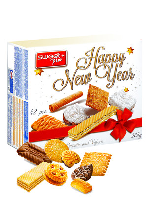 Surtido Galletas y Barquillos Happy New Year 42 Unidades