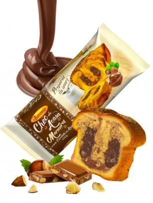Bizcocho Marmol Cacao y Crema Chocolate y Avellanas estilo Nutella 450 grs