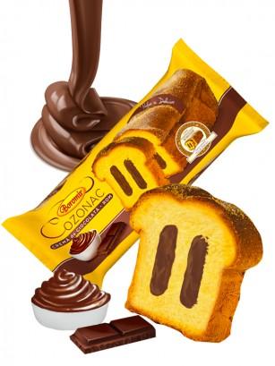 Bizcocho relleno de Doble Crema Chocolate 450 grs