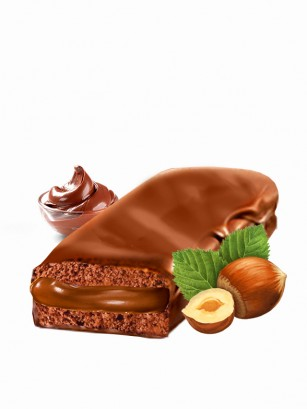 Pastelito Linzer relleno de Crema de Cacao y Avellanas | 55 grs