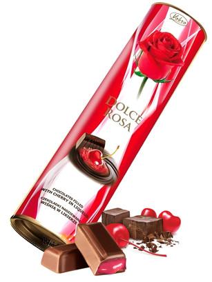 Bombones Dolce Rosa rellenos de Crema de Cerezas 90 grs.