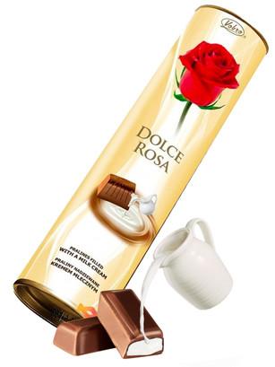 Bombones Dolce Rosa rellenos de Crema de Leche y Nata 90 grs.