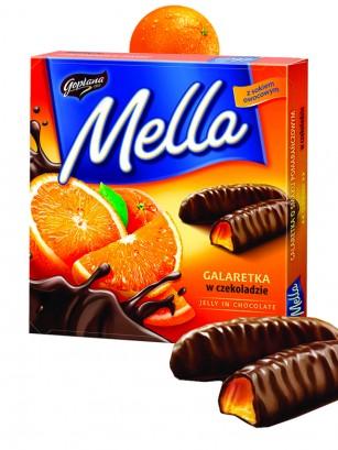Barritas de Chocolate rellenas de Gelatina de Naranja 190 grs