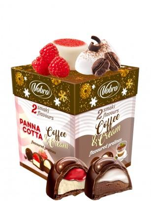Bombones Praline rellenos de Crema de Pannacotta o Café con Nata 204 grs.