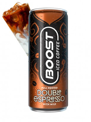 Double Espresso & Milk Boost | Iced Coffee 250 ml.