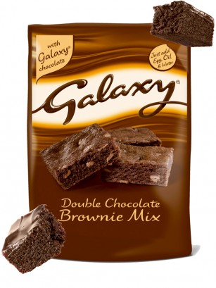Preparado para Brownies de Doble Chocolate Galaxy 360 grs.