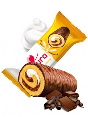 Cake Roll de Chocolate y Crema de Vainilla 35 grs |