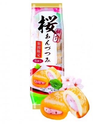 Dora Rolls de Sakura y Mochi 162 grs. | Receta de Kyoto | 6 unds.