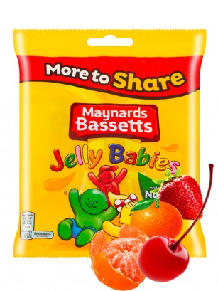 Bebés de Gominola Sabor Frutas | Maynards Jelly Babies 190 grs