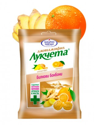Caramelos de Jengibre y Naranja 85 grs