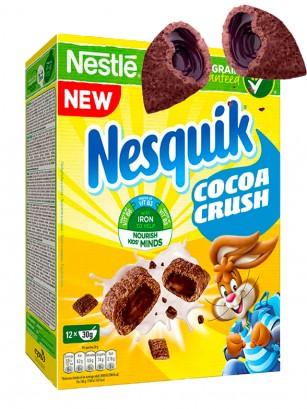 Cereales Almohadillas Chocolateadas rellenas de Chocolate Nesquik 360 grs.