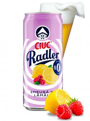 Cerveza Radler 0,0 de Limonada de Frambuesa y Limón | 330 ml.