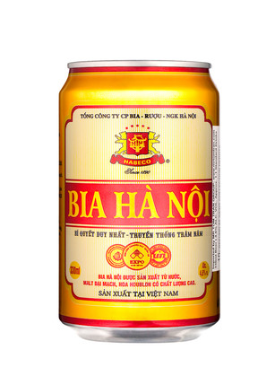 Cerveza Vietnamita Hanoi 330 ml.