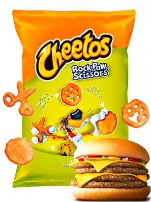 Cheetos sabor Burger Big Bag | Piedra, Garra, Tijera 85 grs