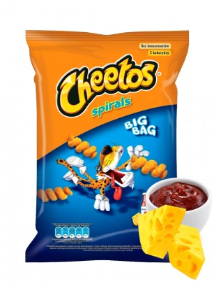 Cheetos Spirals sabor Queso y Ketchup Big Bag | 80 grs