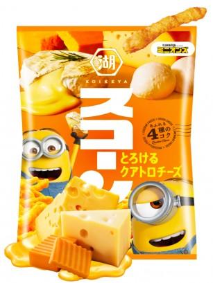 Snack estilo Cheetos Japoneses sabor 4 Quesos Fundidos | Edición Minions 75 grs