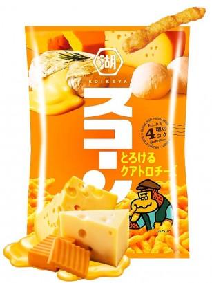 Snack estilo Cheetos Japoneses sabor 4 Quesos Fundidos 75 grs