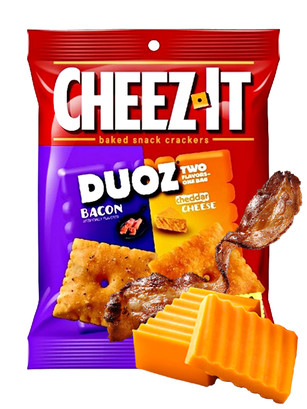 Galletitas de Queso Cheddar y Bacon | Cheez It DUOZ 121 grs