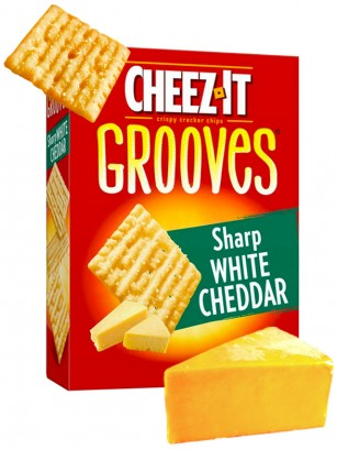 Galletitas Crujientes de Queso Cheddar Blanco | Cheez It Grooves Big Box 255 grs.