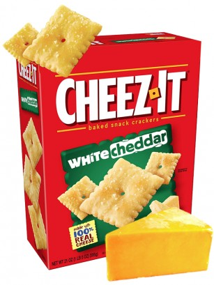 Galletitas de Queso Cheddar Blanco | Cheez It Box 198 grs.