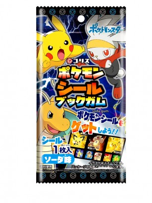 Chicle Pokemon con 9 Pegatinas