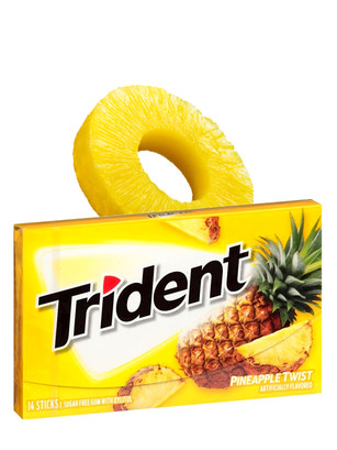 Chicles Trident Sin Azúcar Sabor Piña 45 gr
