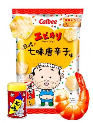 Chips de Patatas Calbee sabor Gamba Ebikari Shichimi | 50 grs.
