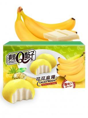 Mochis de Banana con relleno de Chocolate Blanco