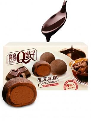 Mochis Chocolateados con relleno de Chocolate Trufado Ganaché