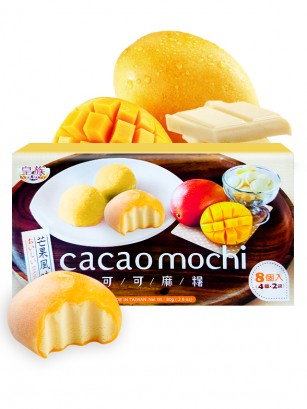 Mochis de Mango con relleno de Chocolate Blanco 8 unds
