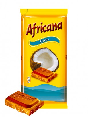 Chocolate Africana con Coco 90 grs