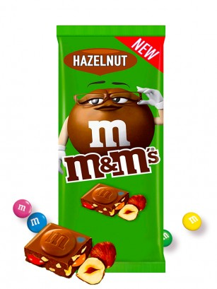 Tableta de Chocolate con M&M's y Avellanas 165 grs