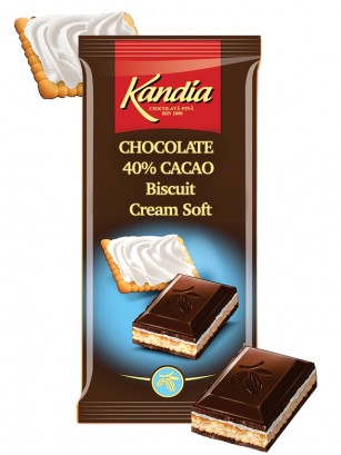 Chocolate Kandia de Galleta y Nata Fresca 115 grs