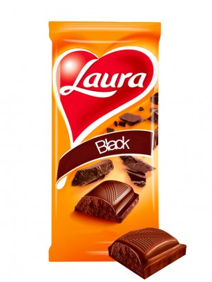 Chocolate Laura Negro 90 grs