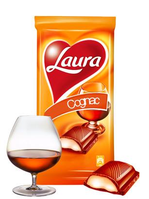 Chocolate Laura de Crema de Coñac 95 grs