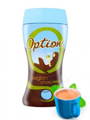 Chocolate Belga Instantáneo con Leche y Menta 220 grs